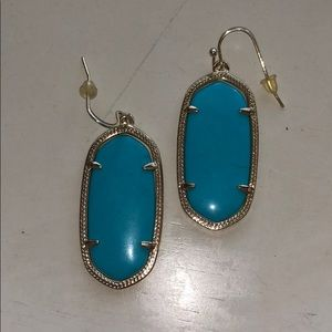 Dani Kendra Scott earrings in blue and gold